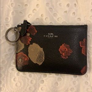 Coach zippered pouch card case wallet